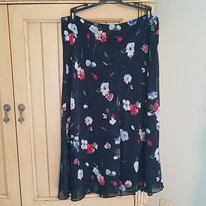 Chaps floral skirt